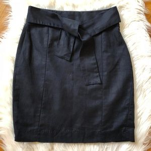 BANANA REPUBLIC Linen Blend Tie Waist Pencil Skirt